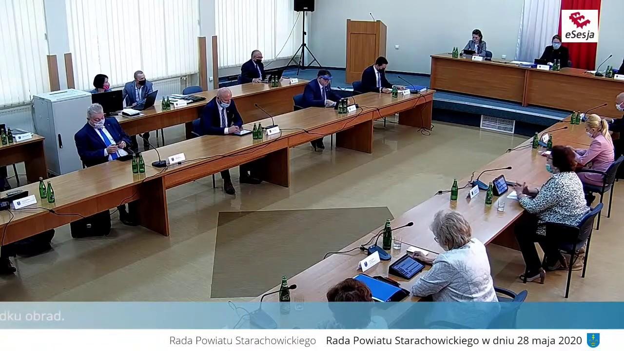 XXI Sesja Rady Powiatu w Starachowicach 28.05.2020 r.