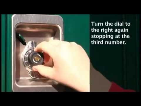 1695MKADA Built-In Combo Lock: Opening w/Combo Instructions