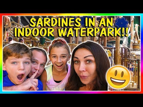 SARDINES AT THE GREAT WOLF LODGE | HIDE AND SEEK | We Are The Davises