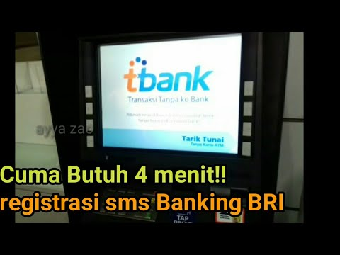 cara registrasi sms banking BRI  cuma 4 menit