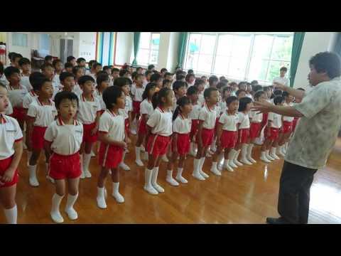 正進幼稚園、歌の練習頑張っています