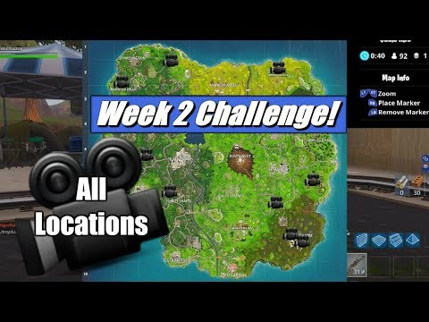 dance in front of different film cameras all locations fortnite - fortnite week 2 cameras