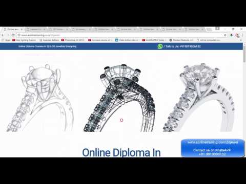 Online Jewellery Designing Courses (CAD/CAM) - Free Demo Class ...