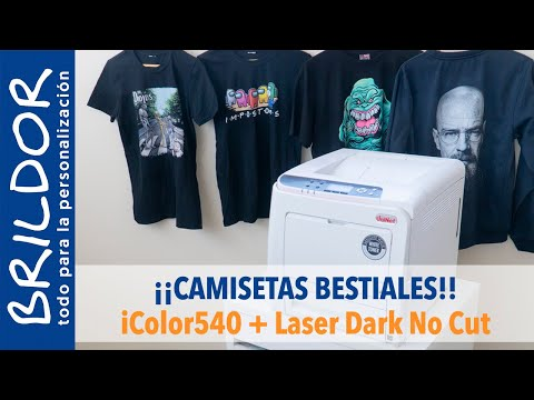 Camisetas BESTIALES con iColor540 +  Laser Dark No Cut + ProRip