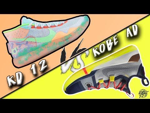 Nike KD 12 vs KOBE AD Exodus!