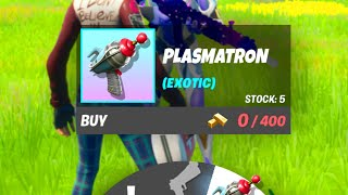 New EXOTIC Weapons in the New UPDATE of Fortnite!