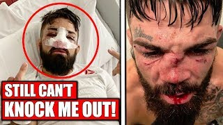 Mike Perry reacts to broken nose and loss to Luque, UFC Uruguay, Dana White on Colby vs Usman