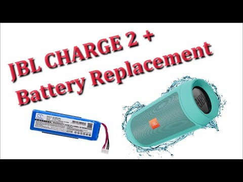 JBL Charge 2 + Battery Replacement Tutorial - JBL Charge 2 PLUS Battery Replacement