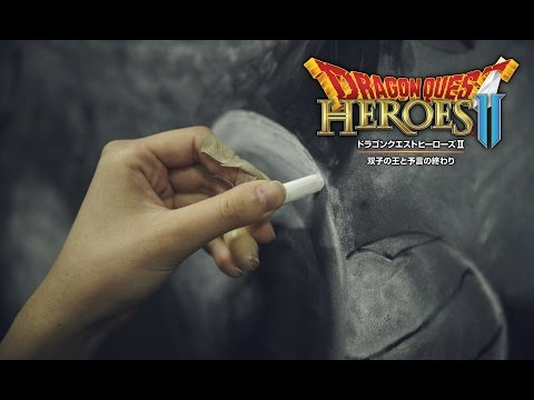 『ドラゴンクエストヒーローズⅡ』巨大黒板アート れなれなさんメイキング動画