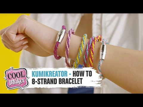 Download Cool Maker | KumiKreator | How to Make an 8-Strand Bracelet HD Mp4 3GP Video and MP3