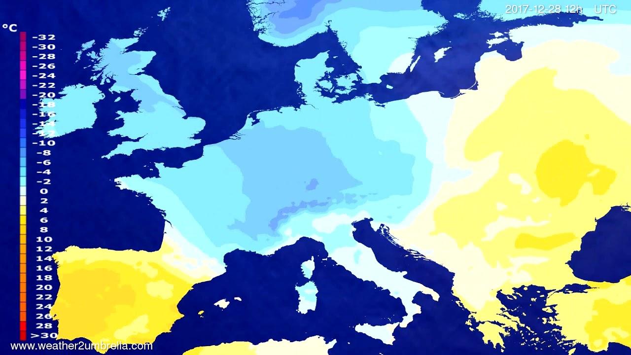 Temperature forecast Europe 2017-12-24
