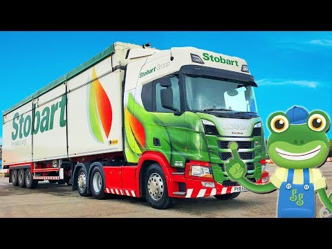 Gecko and The Big Truck | Lorry Videos For Children | Gecko's Real Vehicles