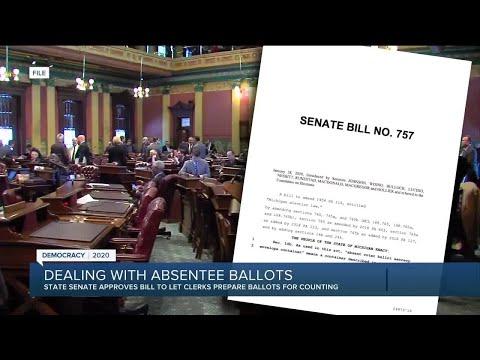 Michigan Senate OKs more time to process absentee ballots