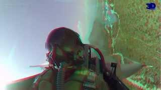 First Ever F-16 DEMO Flight - Real 3D Video - HD 3D!!!