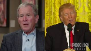 BUSH CONTRADICTS TRUMP: 43rd President George W. Bush DEFENDS the MEDIA