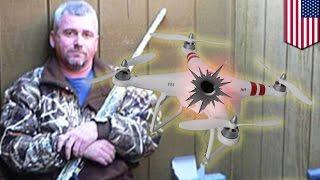 Папаша из Кентукки подстрелил дрон-беспилотник, защищая честь дочери