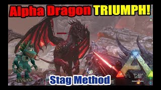 ARK Survival Evolved HOW TO BEAT ALPHA DRAGON BOSS SOLO