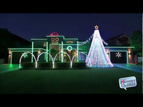 Perth House With Christmas Lights Show Set To Gangnam Style