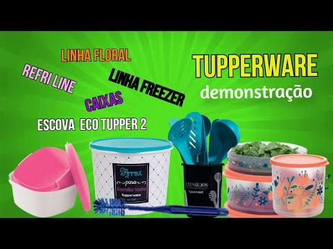 TUPPERWARE DEMONSTRAO: linha floral, lanamento porta utenslios e mais... BELEZA EM REVISTA