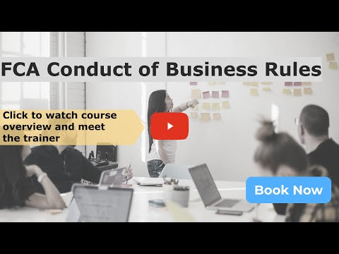 Online FCA Conduct of Business Rules (COBS) Course by Redcliffe Training
