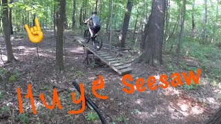 Dads first time riding his new stump jumper at bakers ridge trails!