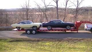 SLOAN Kwik Load Texas Rollback 2 Car gooseneck Trailer NO RESERVE 3 DAY! VIDEO!!
