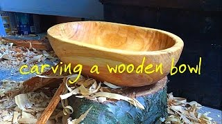 Carving A Wooden Bowl The Full Video