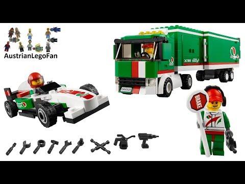Vidéo LEGO City 60025 : Le camion du Grand Prix