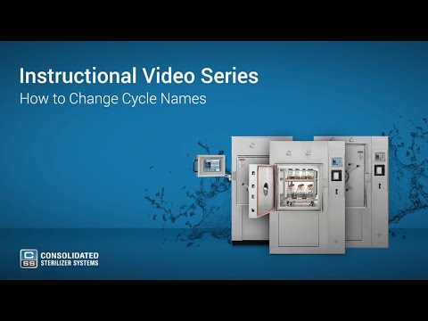 How To Change Your Autoclave's Cycle Names