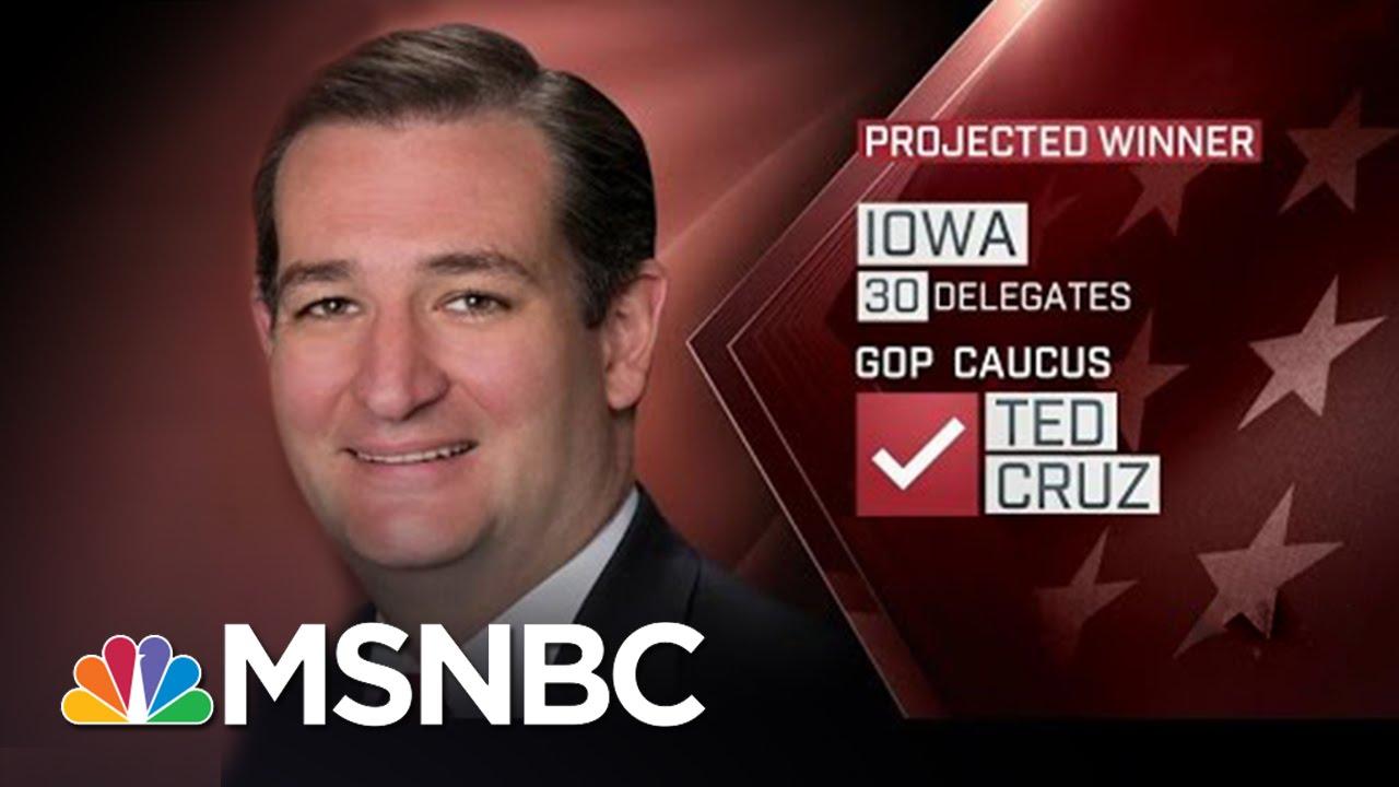 Ted Cruz Wins Iowa Caucus: NBC News Projection | MSNBC thumbnail