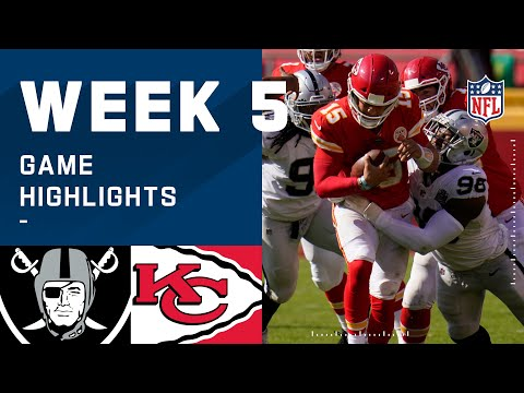 Raiders vs. Chiefs Week 5 Highlights   NFL 2020