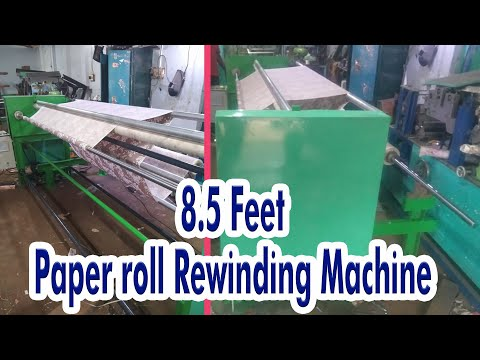 Paper Roll Rewinding Machine