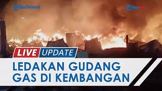 Dua Ledakan Terdengar saat Kebakaran Gudang Gas di Kembangan Jakbar, Diduga Berasal dari Tabung Gas