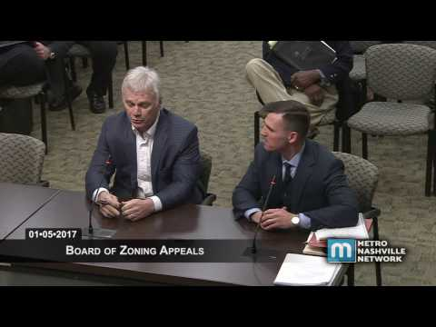 01/05/2017 Zoning Appeals Board