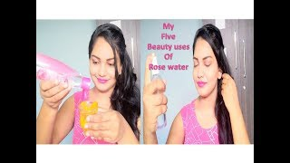 My Five beauty uses of rose water || Skin care with rose water || Glow Gossip
