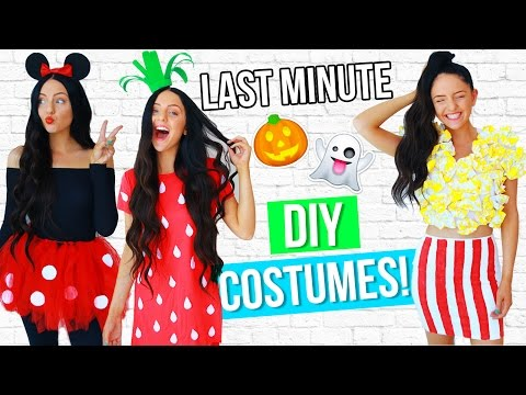 DIY LAST MINUTE Costume Ideas For Halloween 2016! EASY!