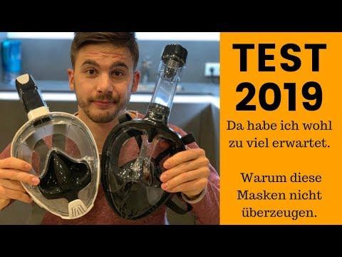 2019 Schnorchelmaske im Test. Billigschrott aus Asien. Tauchermaske Vollmaske Produktvergleich