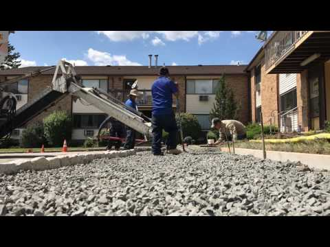 Concrete was delivered to Quality 1st Contracting Division to replace a walkway in a Woodbridge, NJ community.