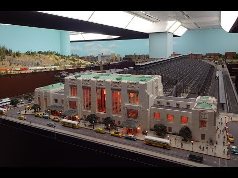 Awesome Large Model Railroad RR HO H.O. Scale Gauge Train Layout @ Milwaukee with amazing trains