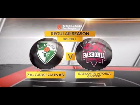 EuroLeague Highlights RS Round 2: Zalgiris Kaunas 78-73 Baskonia Vitoria Gasteiz