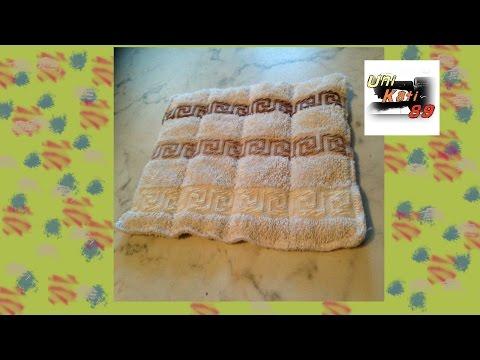 Schwammtuch Spültuch Putztuch nähen Upcycling aus einem Handtuch Anleitung DIY #UniKati89