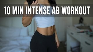 10 Min Intense Ab Workout: Flat Stomach Exercises by Stephi Nguyen