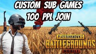 PUBG : Mobile Custom 100 PPL Join