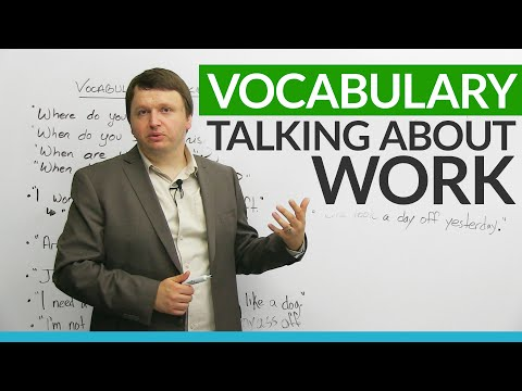 English Vocabulary: Talking about WORK
