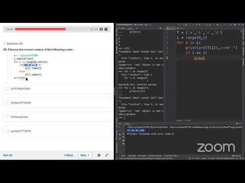 Python certification PCAP mock exam - 2 - YouTube