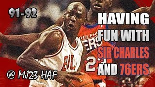 Michael Jordan Highlights vs 76ers (1992.01.14) – 26pts, Having Fun with Sir Charles!