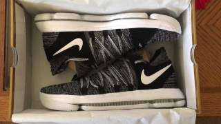 watch dfc7e 324d7 My Very First Kd10 Oreo Fingerprint Color-way Fashion Style Design  Basketball Shoes I Rated