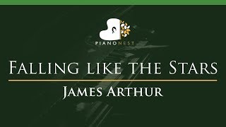 James Arthur   Falling Like The Stars   LOWER Key (Piano Karaoke  Sing Along)
