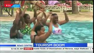 Domestic tourists throng the coast during the festive season