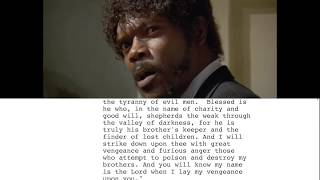 Pulp Fiction Ezekiel 25:17 - Script To Screen